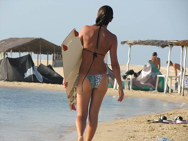 kite girl cauipe cumbuco brazil